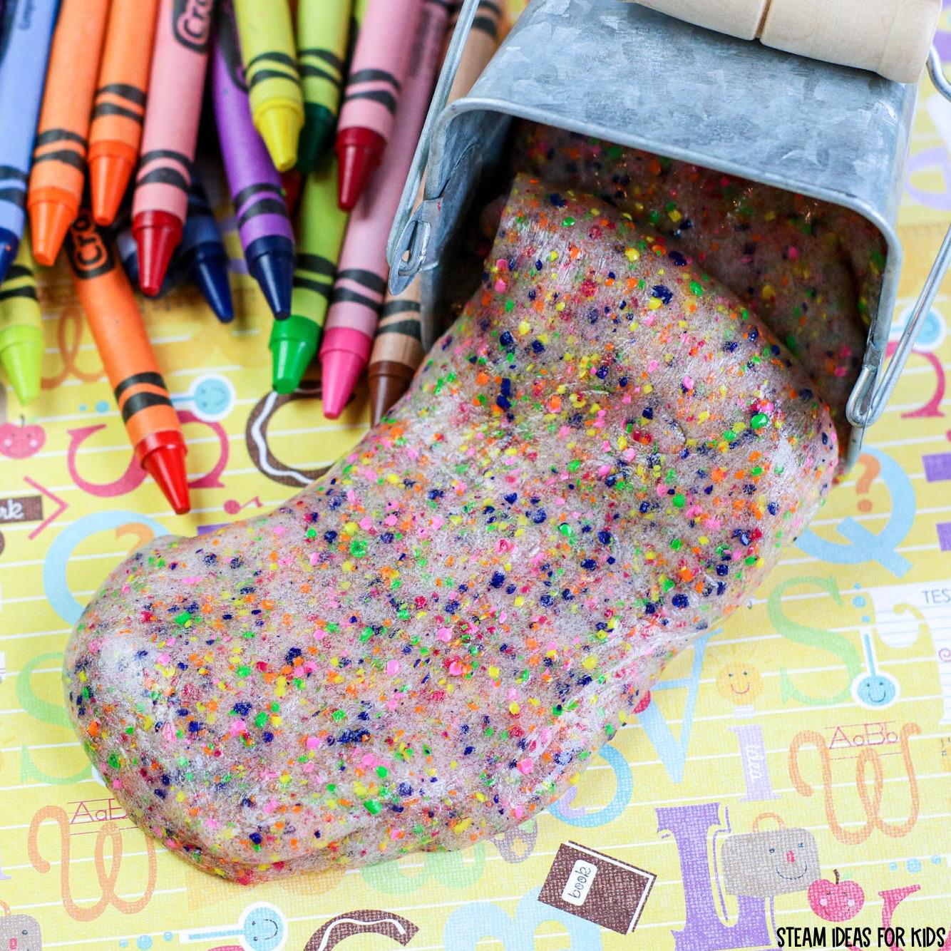 Crayon Slime for Sensory Play